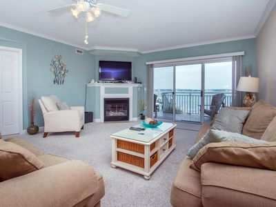 Photo for Big Bayfront w/ Pool Near Boardwalk - Watch Sunsets from Your Balcony!