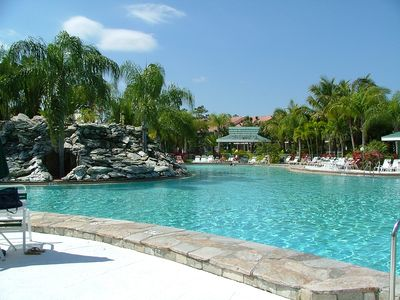 Largest 'Resort Style' pool in South Florida. Islands, waterfalls and streams!