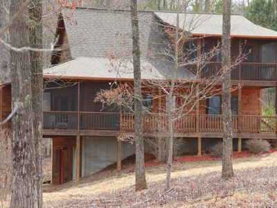 Photo for Beautiful Custom Cabin on almost 2 acres with lots of privacy
