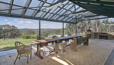 There are wonderful views from the covered back verandah