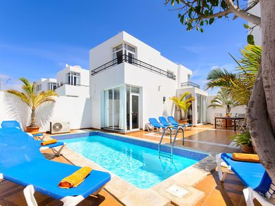 Photo for Puerto del Carmen Beautiful holiday home with Heated Pool, Private Patio and Great Location