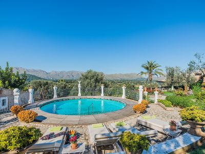 Photo for Impressive views from this spectaular villa with heated private pool and countryside location.