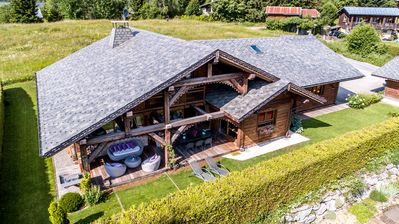 Photo for AUTHENTIC AND WARM CHALET - LUXURY CHALET IN FRENCH ALPS - JACUZZ