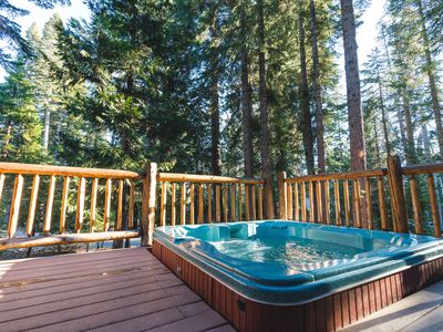 Photo for Private Hot Tub in the the pines!  Fully renovated, access to shared pool & pier