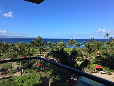 Photo for KONEA 403 Big Blue Ocean/Maui Sunset Views Inner Courtyard 2 Bed-Certified Clean