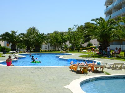 Photo for OFFER SALOU, AIR CONDITIONER, QUIET, POOL AND LARGE TERRACE, FREE WIFI