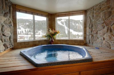 Hot tub room can be closed off so windows can be opened for cold air.