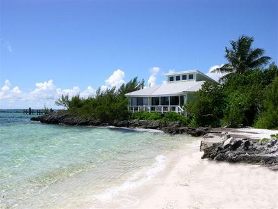 Photo for Cottage style beach home located directly at the waters edge on a semi private beach.