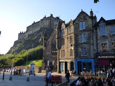 Photo for Grassmarket apartment with views to Edinburgh Castle - two bedrooms