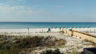 Photo for Beachfront 2BR with heated pool, tennis, shuffleboard, and gym!