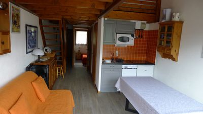 Photo for flat with a beautiful view and south west balcony in the very friendly chatel village