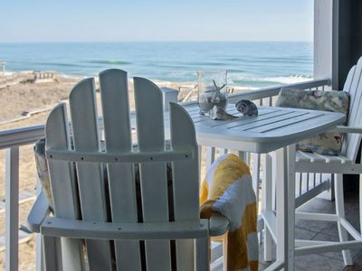 Photo for Spacious oceanside condo recent updates coastline views, private balcony, pool (FFR303 - Sand Dollar Surprise)