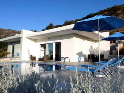Photo for Nice villa for 1 to 4 people, sea and mountain view, private pool