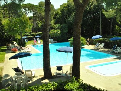 Photo for In a residence with swimming pool on the sea for 2/3 persons