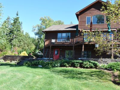 Photo for Very private oceanfront home with westerly views of Frenchman Bay & Acadia.