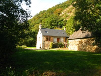 Photo for Large Countryside French stone Cottage next to river with extensive gardens