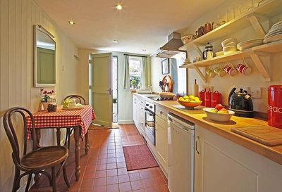 Stylish,  retro, fully fitted kitchen.