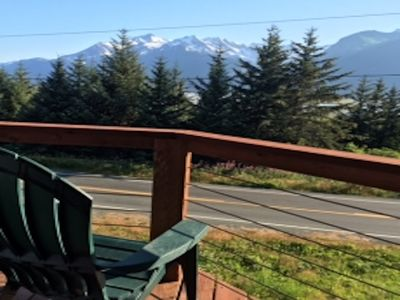 Photo for Glacier views, waterfront property on Haines dramatic Mud Bay Road