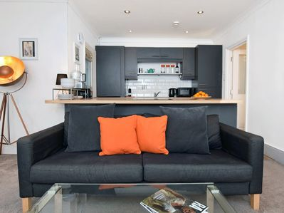 A stylish apartment with an open-plan living space