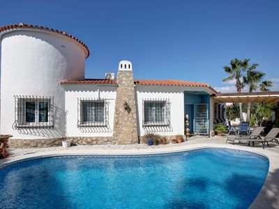 Photo for This 3-bedroom villa for up to 5 guests is located in Denia and has a private swimming pool, air-con