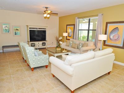 Photo for LUXURIOUS 5BD VILLA w/Private Pool, Game RM in CHAMPIONS GATE, Minutes from Disney & Golf Courses