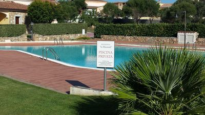 Photo for Gorgeous three bedroom apartment with pool in residence. Tavolara, Brandinchi, Tail Horse