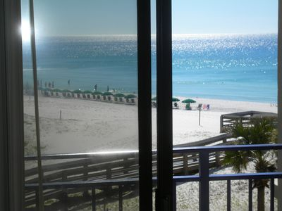 Photo for Award winning beach front Nautilus building, huge balcony 2BR/2BA HEATED POOL