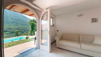 Photo for Fantastic Lake View, Swimming Pool, Barbecue, Private Garden and Terrace