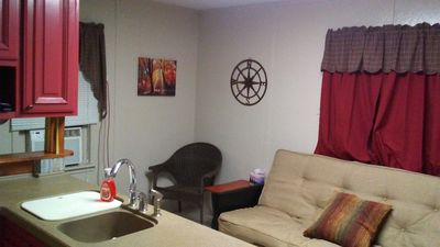 Sitting Area, Futon makes full size bed