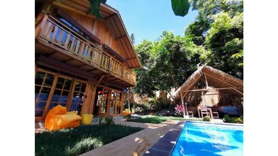 Photo for Villa and private pool in the forest, 2 bedrooms 5 minutes from the beach