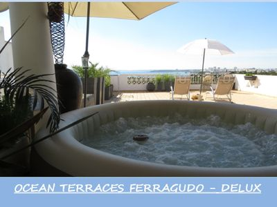 Photo for OCEAN TERRACES-Jacuzzi with magnificent view on the ocean and 5 min from the beach