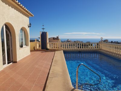 Photo for Sea view villa available for holiday Rent close to Moraira and Javea in Spain