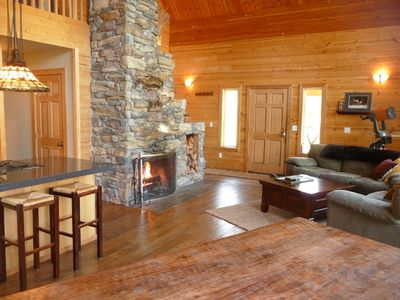 Photo for Beautiful, Spacious, Comfortable Cabin! Hot Tub & Pet Friendly