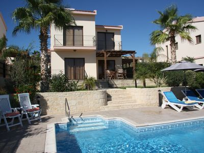 Photo for A first class 3bedroom villa,private big pool and uninterrupted sea view  Wi-Fi.