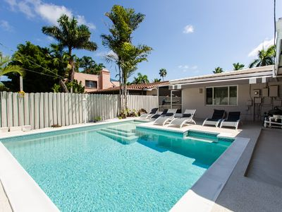 Photo for Luxury Beach House Large 4BR  - Walk 5 Minutes to Hollywood Beach & Boardwalk