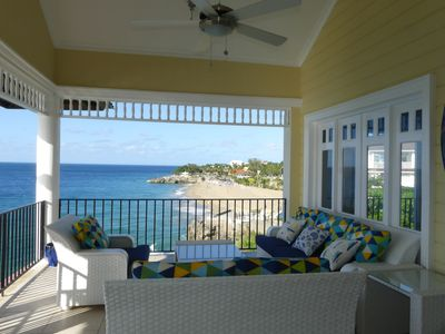 Photo for Sosua's Finest Ocean Front 3 BR Penthouse with spectacular views and uni