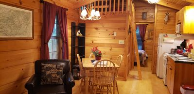 Clean, private cabin just 3 miles to Waynesville on a paved road. 1 of 2 cabins
