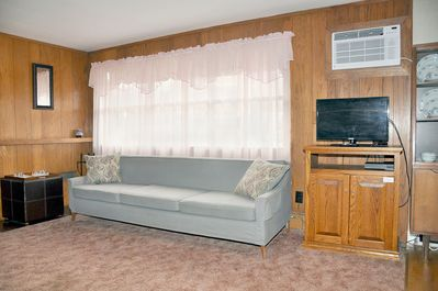 Air conditioned living area, with remote control. Television, DVD with remotes.