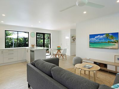 Photo for Newly renovated, private garden, pet friendly, short stroll to dog beach & cafe