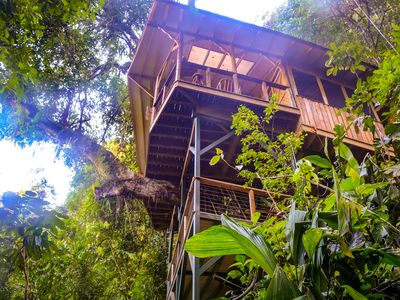 Photo for Awesome Treehouse in Private Rainforest Reserve, Jungle Paradise, Waterfalls