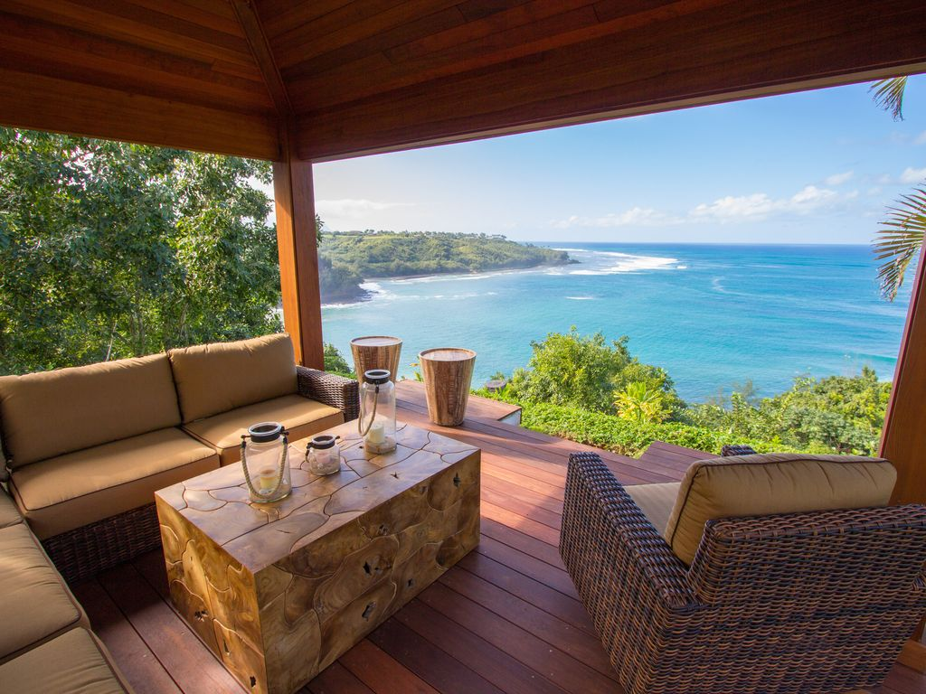 Breathtaking ocean views from hawaiian plan vrbo - House with a view ...