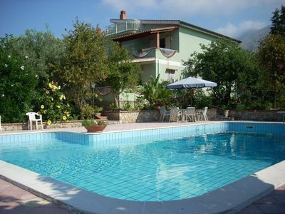 Photo for Fantastic apartments in a villa with private pool and garden near Palermo