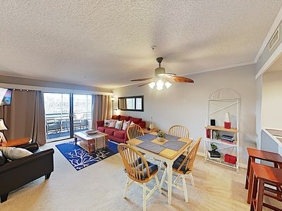 Photo for New Listing! Top-Floor Condo w/ Pools & Screened Balcony - Walk to the Beach