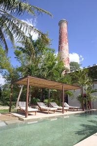 Pool and chimney