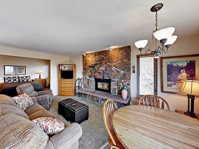 Living Area  - This comfy condo has a spacious open-concept design. Professionally cleaned by TurnKey.