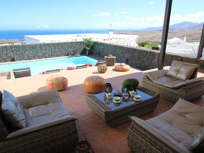 Photo for Villa with private heated pool and fantastic views