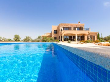 large villa with pool, views of the nature reserve island of Cabrera and the sea