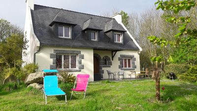 Photo for Beautiful Breton house with sea view in Tréompan