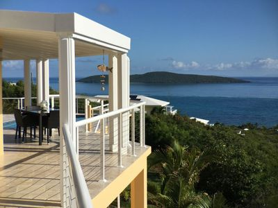 Enjoy some shade or meals overlooking the Caribbean