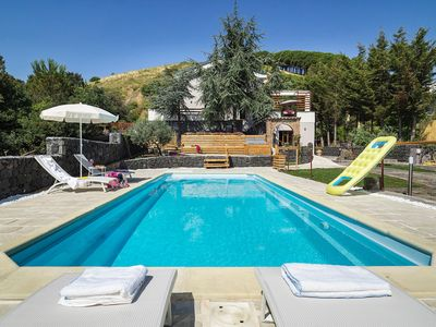 Photo for Luxe villa with PRIVATE POOL in unspoiled setting on the slopes of the Etna